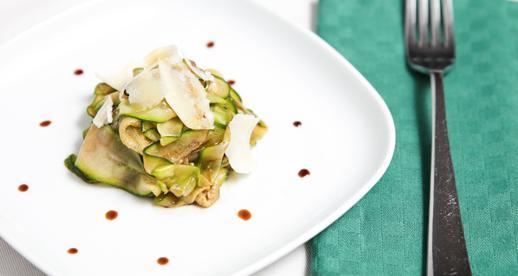 Carpaccio di zucchine all'aceto balsamico