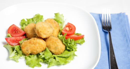 Crocchette di pollo ai piselli